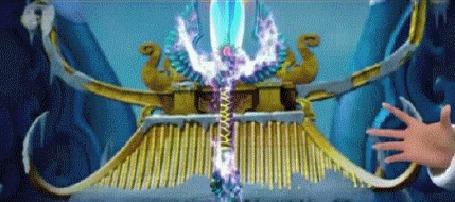 Анимация Девочка Океана, перевоплощение с волшебным мечом из мультфильма Волшебная страна 2015