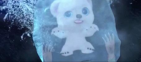 Анимация Океана с помощью магического амулета расколдовала белого медвежонка Северенка из мультика Волшебная страна чудес