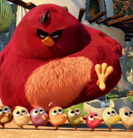 �������� ������� ����� ��� (Red) �� ����������� Angry Birds ������� � ��������, ��� ������� ������ ����� �� ������� ������������