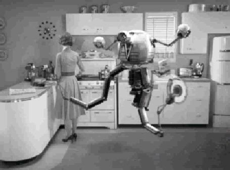 Анимация Робот - помощник на кухне