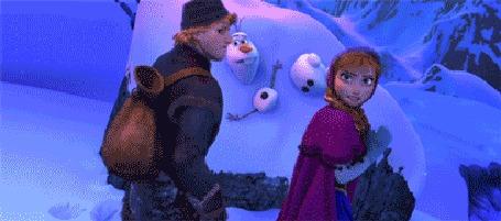 Анимация Принцесса Анна и Кристоф сражаются с монстром, мультфильм Frozen / Холодное сердце, 2013