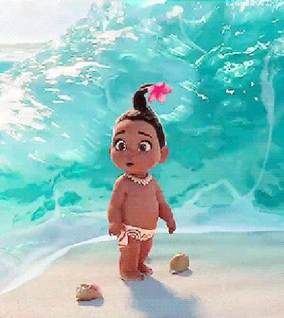 Анимация Маленькая Моана Ваялики / Moana Waialiki из мультфильма Моана / Moana