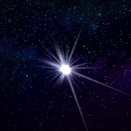 Анимация Сияющая в ночном небе звезда (© zmeiy), добавлено: 14.09.2016 15:56