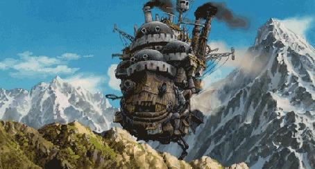 Анимация Howls moving castle / Ходячий замок Хаула из аниме Howls moving castle / Ходячий замок Хаула