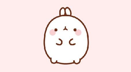 Анимация Molang rabbit / Кролик Моланг машет лапкой