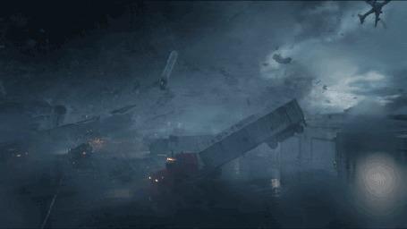 Анимация Шторм, летящие машины, фильм Into the Storm / На встречу шторму