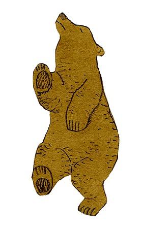 Анимация Медведь весело пляшет