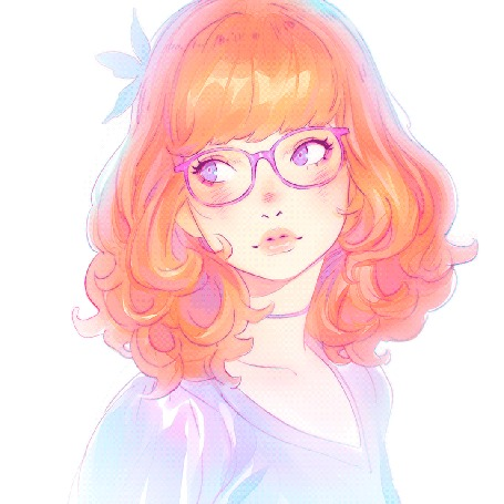 Анимация Процесс рисования девушки с розовыми волосами, автор Кувшинов Илья