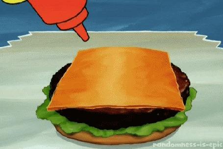 Анимация Рука Спанч боба / Sponge bob рисует сердечко на сыре, во время приготовления крабсбургера, мультфильм Губка Боб квадратные Штаны / SpongeBob SquarePants