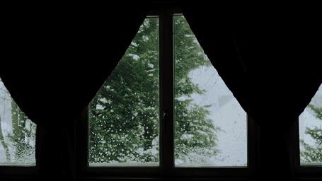 Анимация За окном идет снег