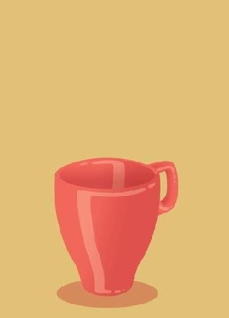 Анимация В красной кружке готовится кофейный напиток со взбитыми сливками и корицей (© Radieschen), добавлено: 08.11.2016 10:19