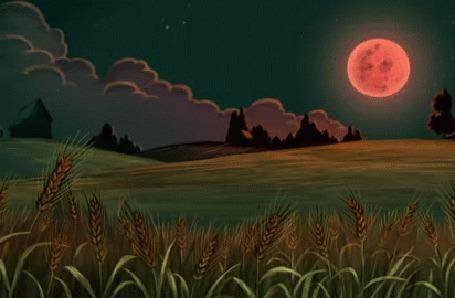 Анимация Яркая луна на небе, мультсериал По ту сторону изгороди