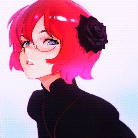 Анимация Процесс рисования девушки с цветком в волосах, автор Илья Кувшинов
