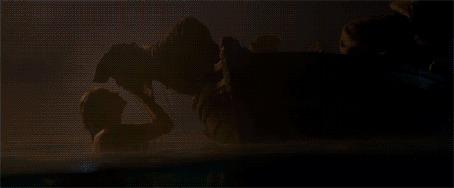 Анимация Кадры из фильма Pirates of the Caribbean: On Stranger Tides / Пираты Карибского моря: На странных берегах, где русалка тащит Jack Sparrow / Джека Воробья в воду