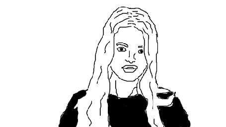 Анимация Девушка с длинными волосами кружится