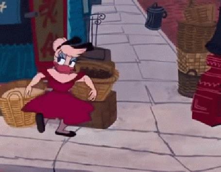 Анимация Donald Duck / Дональд Дак и Daisy Duck / Дейзи Дак, герои мультфильмов студии Walt Disney / Волта Диснея