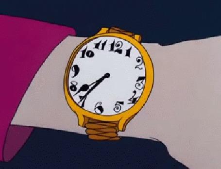 Анимация На руке часы с бегающей стрелкой, мультфильм студии Walt Disney / Волта Диснея