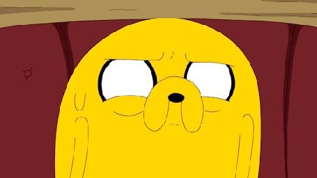 Анимация У пса Jake / Джейка из мультсериала Adventure Time / Время приключений дергается глаз