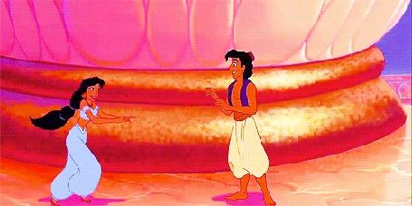 Анимация Алладин / Aladdin и Жасмин / Jasmine из мультфильма Алладин / Aladdin