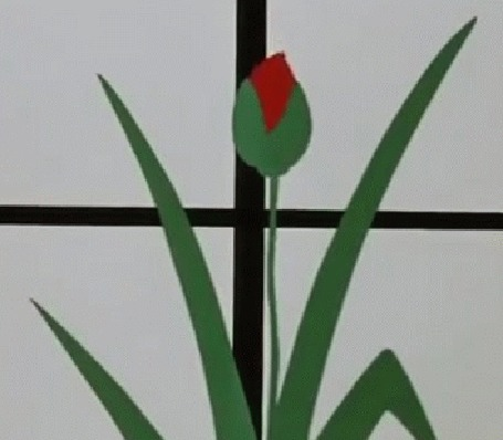 Анимация Появление из цветка Дюймовочки, мультфильм Дюймовочка
