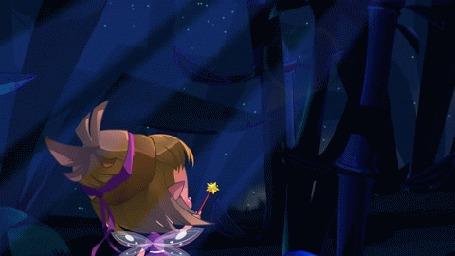 Анимация Девочка с волшебной палочкой