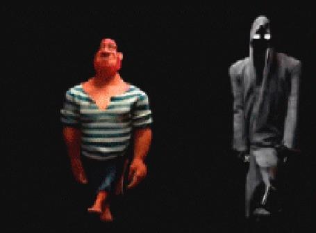 Анимация Мужчина танцует со cмертью, мультфильм Slam Dance / Танец смерти