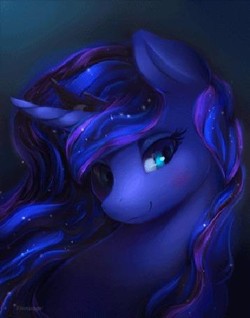 Анимация Princess Luna / Принцесса Луна из мультсериала Мой маленький пони: Дружба - это чудо / My Little Pony: Friendship Is Magic
