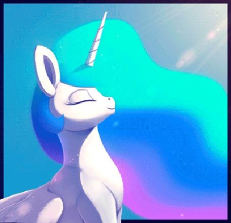 Анимация Princess Celestia / Принцесса Селестия из мультсериала My Little Pony: Friendship Is Magic / Дружба - это чудо