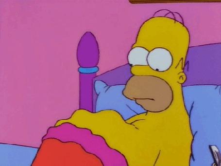 Анимация Бурление в животе Гомера Симпсона, мультсериал Simpsons / Симпсоны
