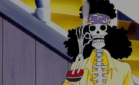 Анимация Скелет хиппи нервно курит