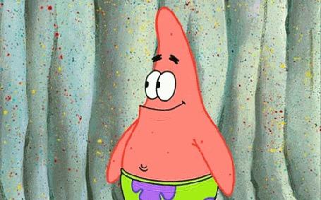 Анимация Патрик смеется, мультфильм Sponge Bob / Губка Боб