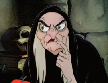 Анимация Злобная колдунья из мультфильма Белоснежка