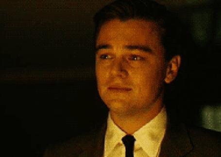 Анимация Leonardo DiCaprio / Леонардо Ди Каприо плачет