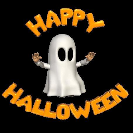 Анимация Веселое привидение танцует (Happy Halloween)