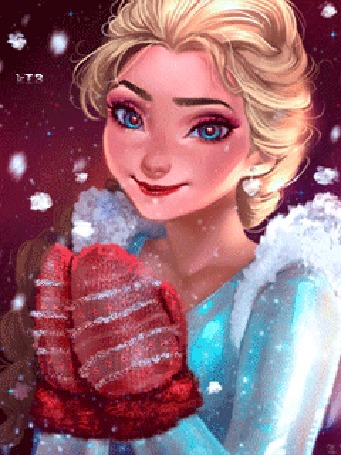 Анимация Elsa / Эльза из мультфильма Frozen / Холодное сердце, by NUMYUMY