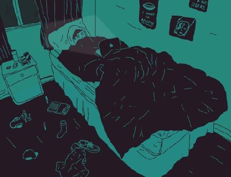 С телочкой на кровати сосок