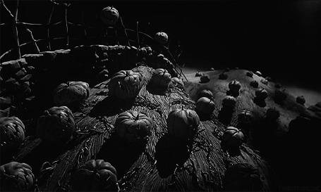 Анимация Тыквы и привидения на праздник Хэллоуина