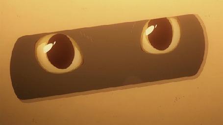 Анимация Глаза кота, аниме Kanojo to Kanojo no Neko / Она и ее кот
