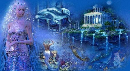 Анимация Фантастические миры с русалками и дельфинами