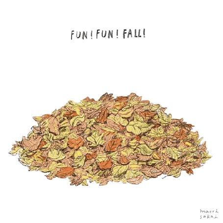 Анимация Собачка роется в осенних листьях, (fun! fun! fall! / весело! весело! падать! ), by Maori