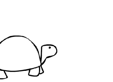 Анимация Медленно идущая черепаха
