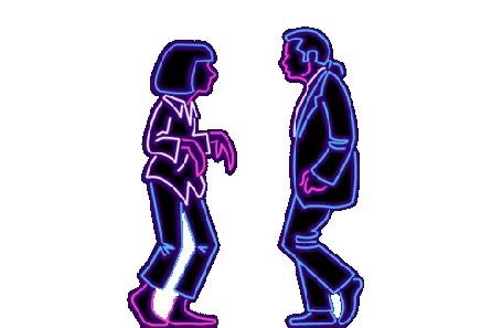 Анимация Танцующие Винсент Вега и Миа Уоллес, фильм Криминальное чтиво