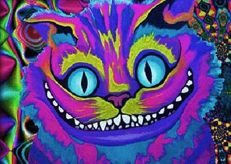 Анимация Психоделический Чеширский кот, Alice In Wonderland / Алиса в стране чудес