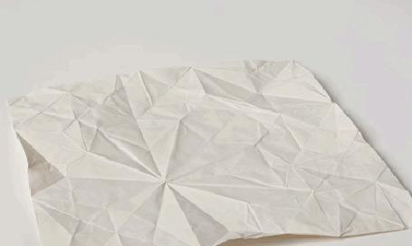 Анимация Оригами, изображающая слоненка