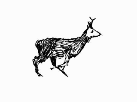 Анимация Карандашный набросок бегущего оленя (© Anatol), добавлено: 08.12.2016 15:20