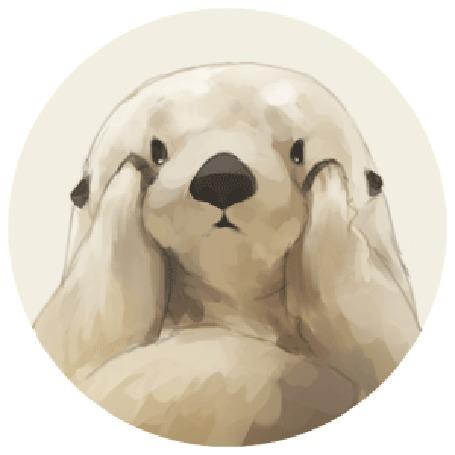 Анимация Белый медведь двигает мордочку лапками вверх-вниз