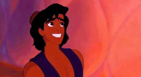 Анимация Джин из мультфильма Aladdin / Алладин