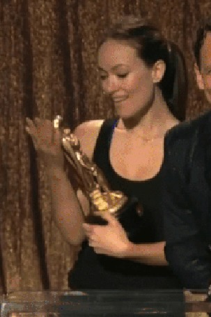Анимация Olivia Wilde / Оливия Уайлд на вручении премии Оскара
