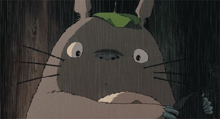Анимация Моргающий под дождем Тоторо, мультфильм Мой сосед Тоторо