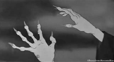 Анимация Руки ведьмы с когтями, мультфильм студии Disney / Диснея Белоснежка и Семь Гномов